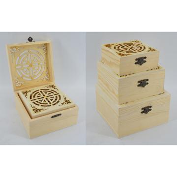 Caja de madera natural nueva