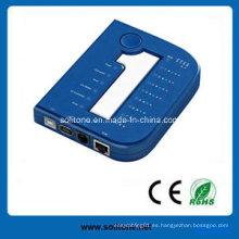 Probador del cable para el cable de RJ45 / Rj11 / USB / 1394, nuevo estilo