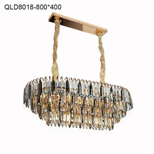 chandeliers lighting iron lobby crystal foyer modern lamp