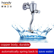 Water-saving button urinal flush valve