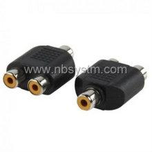 RCA socket to 2RCA socket adaptor, splitter adapter