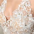 Lentejuelas plateadas brillantes perlas de cuentas vestidos de noche 2017 última moda sexy ver a través de profundas ropas con escote en V De soirée