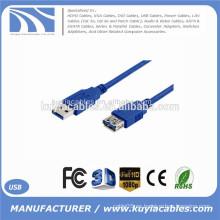 6 pies 1,8 m Cable USB 3.0 Cable de extensión AM a AF Cables macho a hembra Adaptadores de cable Azul