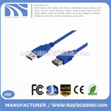 6ft 1.8 m Cable USB 3.0 Extension Cable AM to AF Cables Male to Female Cable Adapters Blue