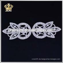 Großhandelsgewohnheit Brautrhinestone applique für Hochzeitskleider