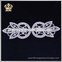 Wholesale custom bridal rhinestone applique for wedding dresses