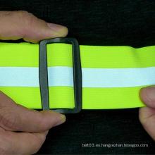 Cinturón elástico con correas reflectantes para correr, caminar