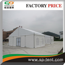 10x20m outdoor decorated party tent with window walls