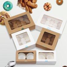 Cupcake Box con caja de ventana para Cupcake