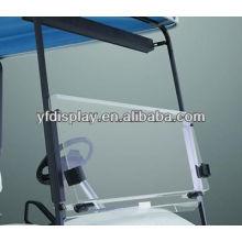Pare-brise acrylique pliable clair pour le chariot de golf pour la voiture de golf de YAMAHA