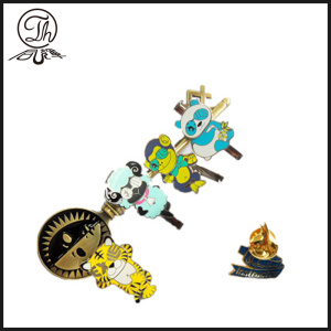 Cartoon Animal enamel pen clips metal