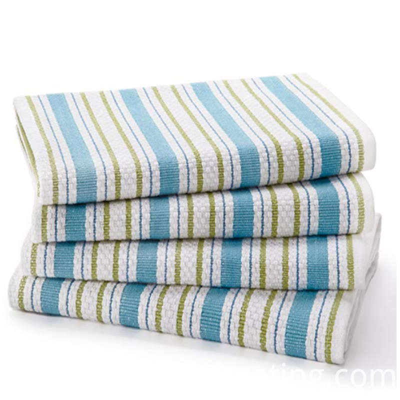 Cotton Blue Stripes Kitchen Towel