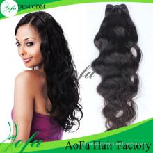 Cabelo humano indiano não processado de 100% cabelo do Weave do Virgin de Remy