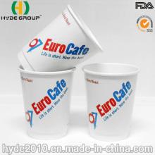 12 parede dupla personalizado oz copo de café de papel de papel impresso com tampa