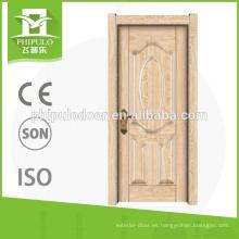 Puerta interior de la superficie de madera del grano de la venta caliente 2018 para el dormitorio
