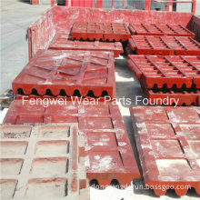 Customized High Manganese Steel Jaw Plate for Jaw Crusher