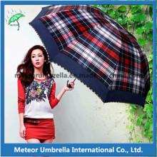 Compact Telescopic Folding guarda-chuvas para o presente da promoção
