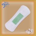 Utilisation quotidienne des protège-slips anion respirants non tissés avec bande verte