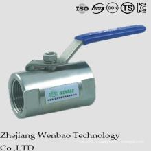 Vanne à bille en acier inoxydable à orifice réduit de type Guang Monoblock