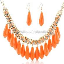 Claw Chain Link Gold Plated Chain Hang Acrylic Pawpaw Pendants