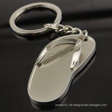 Hot-sale silberne Farbe überzogene Schuhform Zink-Legierungs-Schlüsselkette