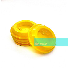 Thinwall plastic cap mold and high speed molding