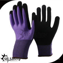 SRSAFETY 2016 new style 13 guage nylon spandex nitrile foam glove breathable,Sandy finish,working gloves