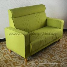 Comfortable Green Fabric Living Room Restaurant Sofa for Bedroom (SP-KS266)