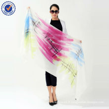 Écharpe peinte à la main 2014 Mesdames Personal Design SWC106 Écharpe pure en cachemire en gros 100% écharpe en cachemire