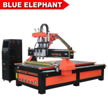 1325 Pneumatic System Three Spindles CNC Router for Wood Furniture