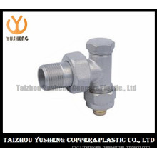 Chinese Cheap and High Quality Nickel-Plating Elbow Male Brass Radiator Valve (YS5008)