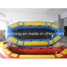 3.8m Inflável River Rafting barco com atraente para o lago