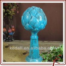 Keramik gekrümmte Glasur Lotus Licht DS142-13B