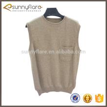 Cashmere sweater vest for men