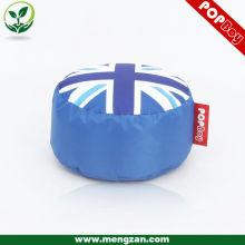 Tabouret rond de drapeau européen Union Jack, grand sac de haricot de drapeau anglais