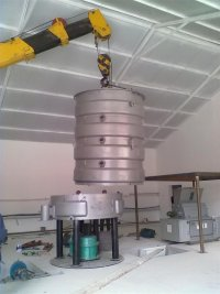 steam cooker for oil mill
