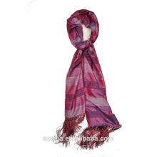 New arrival ladies viscose shiny stripe long scarf/shawl