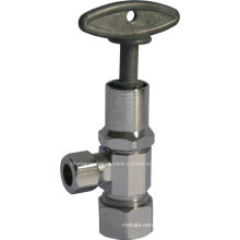 Angle Valve with Zinc Alloy 1/4′′ Hex-Square Handle (J04K)