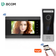 Video Doorbell with 7 Inches Monitor Wired Video Intercom Doorbell Phone System Kit 1 Monitor 1 Camera Video Doorbells for Home