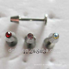 Kristalllippe piercing labret Bolzenschmucksachen