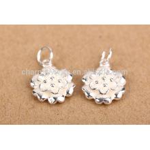 Sef099 jóias DIY descobertas, tendência 925 libras esterlinas flor de lótus charme pulseiras pingente para colar
