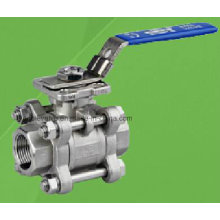 Válvula de bola roscada de 3 PC 1000 psi con almohadilla de montaje directo ISO 5210/5211