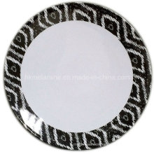 Plato de postre redondo de melamina con logotipo (PT7265)