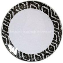 Круглый меламин Десертная тарелка с логотипом (PT7265)