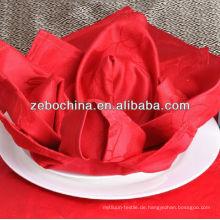 Heißer Verkaufentwurf direkt Fabrik hergestelltes Luxuxgroßverkaufhotelbaumwolle gefaltete Blumen-Servietten