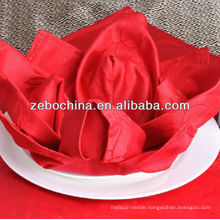 Hot selling design direct factory made luxury wholesale hotel cotton folded flower napkins