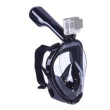Seaview 180 ° Masque de plongée tubulaire panoramique - Design intégral. Voir plus avec une plus grande zone de visualisation que les masques traditionnels. Empêche Gag Reflex avec le design Tubeless