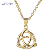 Perhiasan Kustom Barang Emas Celtic Knot Necklace