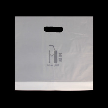 Commercial Colored Plastic Die Cut Bag