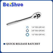 Knurl Handle Quick Release Ratchet of Socket Wrench